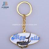 中国のエナメルのキーホルダーのカスタム楕円形のロゴの金属Keychainからの供給