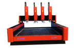4 маршрутизатор CNC автомата для резки головок Ql-1318 мраморный каменный