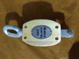 Tipo bloque de JIS de polea de madera de la sola polea acanalada con el ojo