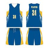 Jóia de basquete reversível sublimada feminina personalizada com tecido de malha