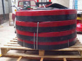 De rode RubberRaad van de Rok van de Transportband van het Blad