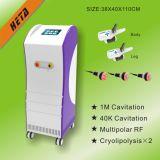 8 equipamento principal de Cavitaion RF da cabeça 3 de Cryo do vácuo da tela de toque 2 da polegada para a perda de peso H-2004D