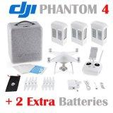 Dji Phantom 4 Quadcopter mit 4k HD Kamera u. Kardanring + 2 Extrabatterien (Gesamtmenge: 3 Batterien)