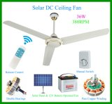 Supergroße geschwindigkeit 12 Volt Solar-Gleichstrom-Decke Fan-2-380rpm