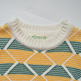 Wellenförmiger bunter Pullover gestrickte Kind-Strickjacke
