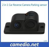 2 dans 1 système renversé de sonde de stationnement d'appareil-photo de voiture