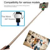 Clip pliable de bâton en aluminium neuf de Bluetooth Selfie avec le miroir Smartphone