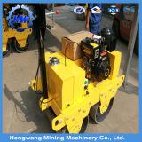 Rolo Vibratory do compressor do cilindro 1t do dobro do motor de Honda