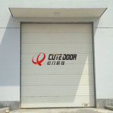 Дверь гаража промышленной обеспеченностью верхнего качества огромная секционная сползая автоматическая