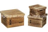 Caisse en bois chic personnalisée à la fine pointe vintage pour stockage