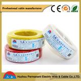 Cuivre simple de fil électrique ou PVC de conducteur de CCA isolé (BV/H07V-U)
