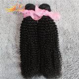 卸し売り8Aバージンのインドの毛のねじれたカール自然なカラー毛の織り方