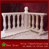 Balaustra di marmo di asta della ringhiera della pietra del corrimano dell'inferriata con l'alberino