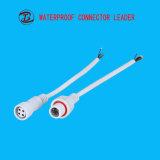 Conetor impermeável elétrico de 4 fios do comprimento de cabo do OEM e do tamanho do cabo