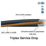 Cable électrique en aluminium d'ABC du conducteur AAC AAAC ACSR Acar Acss/Tw