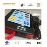 Telefone esperto impermeável com o sensor biométrico da impressão digital e o Hf RFID