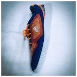 Tissu de maille avec le haut d'impression de mode de la chaussure de PVC