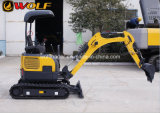 Correa eslabonada Hydraulic Backhoe Mini Excavator Mini Hydraulic Crawler Excavator con Canopy