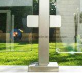 Rostfreie quadratische Glasschelle mit runder Rückseite für Glasgeländer