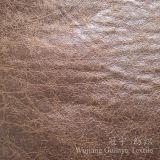 Tessuto della lanugine dello Shammy della pelle scamosciata dell'oro della stagnola micro per i coperchi del sofà