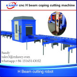 Découpage robotique de coupeur de plasma de la commande numérique par ordinateur 360 pour le tube en acier profilant la poutre en double T