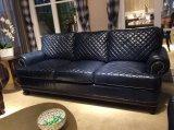 Sofà blu del cuoio di colore per il salone (A32)