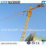ISO & Tc5610 guindaste de torre dobro Certificated Ce da carga da rotação 6t para a maquinaria de construção