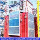 Élévateur de la construction Sc150/150 avec l'inverseur de fréquence pour le passager et le matériau de levage