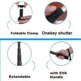 携帯電話のためのSelfieの拡張アルミニウムMonopodによってワイヤーで縛られる棒
