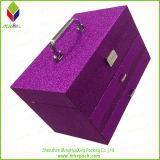 Коробка косметики красотки подарка упаковки индикации Delicated пурпуровая