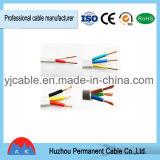 Le PVC de BVVB a isolé 2/3 câble de fil électrique de gaine plate de cuivre de PVC de faisceau
