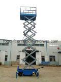 plate-forme de levage de ciseaux manuels hydrauliques mobiles de 18m