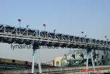 Sistema de manipulación de materiales/sistema de transportador/transportador de correa tubular