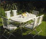 環境に優しい2014最も新しい6PCS優秀な方法装飾的なホワイトメタルのFoldable鋼鉄標準的で贅沢な現代屋外の家具