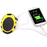 Carregador de bateria impermeável do banco da potência solar do USB para o telefone de pilha
