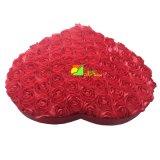 Boîte-cadeau de papier pointue d'emballage de mémoire de coeur rouge