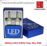 LED-Scheinwerfer-Super helle LED-Scheinwerfer 4800lm CREE Xhp50 Chip 40W weiße Farbe Aluminium-Auto-LED-Licht