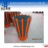 Resbalón de cementación del martillo en la cesta de acero del cemento de la cubierta del dedo de la lona