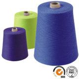 Solo hilado para hacer punto 30/1 hilados de polyester hecho girar el 100%