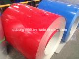 La couleur de la feuille ridée par bobine PPGI des feuilles PPGI de toit de fournisseur de la Chine enduite a galvanisé la toiture en acier de zinc de la bobine PPGI