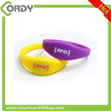 pulseras ultraligeras del Wristband del silicón de 13.56MHz MIFARE C RFID