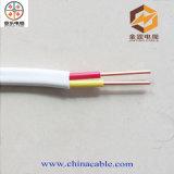 Cable eléctrico, cable plano flexible, cable plano del PVC (300 / 500V 2 * 2.5)