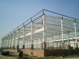 Armazém/oficina Prefab pintados de grande resistência fortes da construção de aço do edifício