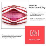 Mini poche cosmétique de renivellement de sac d'article de toilette de sac rayé de femmes