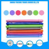 Прозрачный PVC и Non-Woven лиловый вися карманный мешок хранения устроителя