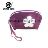 PVC Shinning rose avec le sac de produit de beauté de fleur de broderie