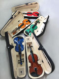 Violon 4/4 dans le cas de violon avec de la colophane de violon de proue de violon
