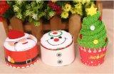압축 선전용 크리스마스 나무 모양 선물 목욕 수건