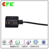 черный магнитный разъем силы 4pin с кабелем для продуктов Werable