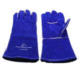Blue Cow Split Leather Gant de travail en soudure entièrement doublée